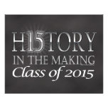 History in the Making, Class of 2015 Graduation Full Color Flyer