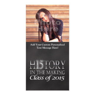 History in the Making, Class of 2015 Graduation Photo Card Template