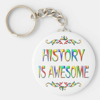 History is Awesome Basic Round Button Keychain