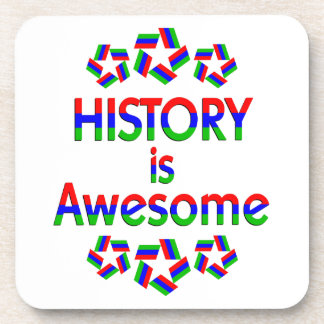History is Awesome Beverage Coaster