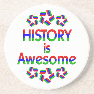 History is Awesome Drink Coaster