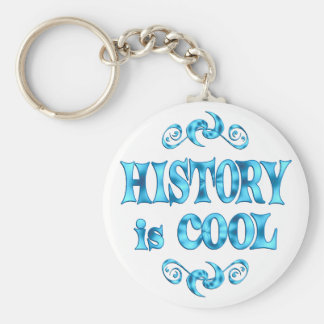 History is Cool Basic Round Button Keychain