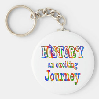 HISTORY is Exciting Basic Round Button Keychain