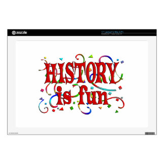 "History is Fun 17"" Laptop Decals"