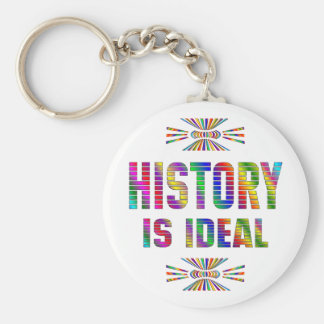 History is Ideal Basic Round Button Keychain
