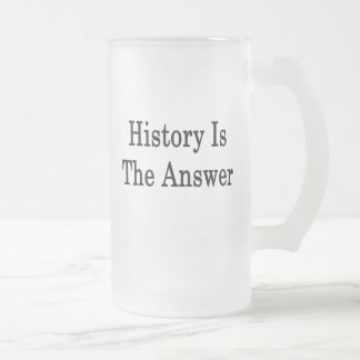 History Is The Answer Frosted Glass Beer Mug