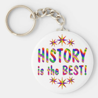 History is the Best Basic Round Button Keychain