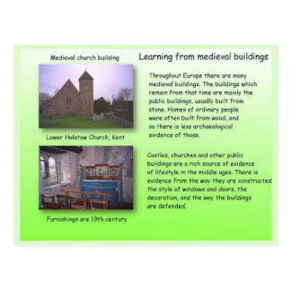 History,  Learning from medieval buildings Postcard