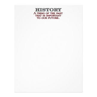 History Letterhead