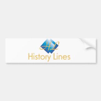 History Lines - Official Gear Car Bumper Sticker