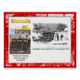 History Literature Dickens Canals Poster