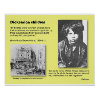 History Literature Dickens Dickensian children Posters