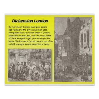 History Literature Dickens Dickensian London Posters