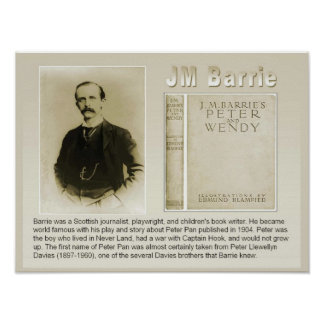 History, Literature, JM Barrie,author of Peter Pan Poster