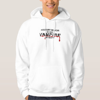 History Major Vampire by Night Hooded Sweatshirt