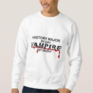 History Major Vampire by Night Pullover Sweatshirt