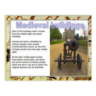History, Medieval Sources,  Buildings Postcard