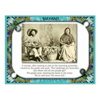History, Meso-America, Mayans, Where are they now? Postcard
