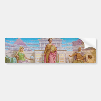 History Mosaic by Frederick Dielman Bumper Sticker