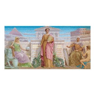 History mosaic by Frederick Dielman. Card