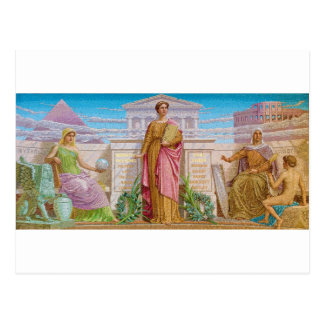 History Mosaic by Frederick Dielman Postcard