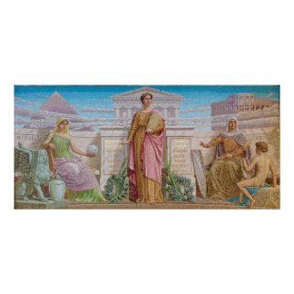 History, mosaic by Frederick Dielman Poster