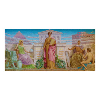 History Mosaic by Frederick Dielman Poster
