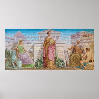 History, mosaic by Frederick Dielman Print