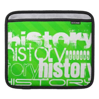 History; Neon Green Stripes iPad Sleeve