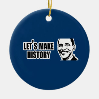 History Obama Bumper 5.png Double-Sided Ceramic Round Christmas Ornament