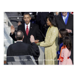 HISTORY: Obama Family at Inauguration Ceremony Postcard