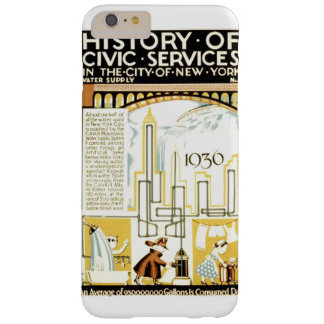 History of Civic Services New York 1936 Poster Barely There iPhone 6 Plus Case