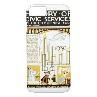 History of Civic Services New York 1936 Poster iPhone 8/7 Case