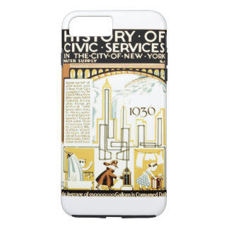 History of Civic Services New York 1936 Poster iPhone 8 Plus/7 Plus Case