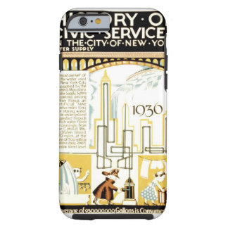 History of Civic Services New York 1936 Poster Tough iPhone 6 Case