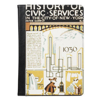 History of Civic Services New York WPA Poster