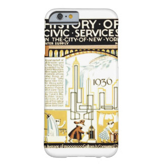 History of Civic Services New York WPA Poster Barely There iPhone 6 Case