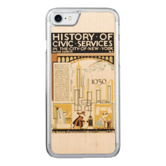 History of Civic Services New York WPA Poster Carved iPhone 8/7 Case