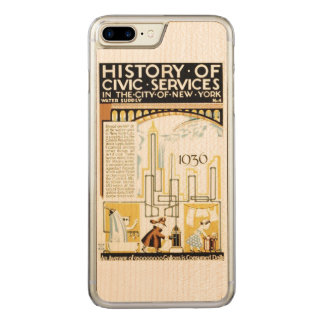 History of Civic Services New York WPA Poster Carved iPhone 8 Plus/7 Plus Case