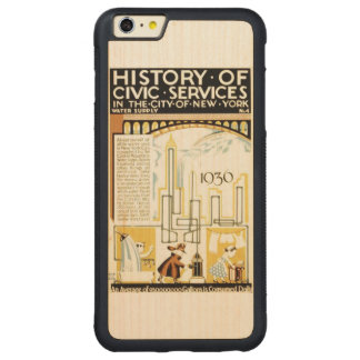 History of Civic Services New York WPA Poster Carved Maple iPhone 6 Plus Bumper Case