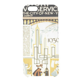 History of Civic Services New York WPA Poster Clear iPhone 6/6S Case