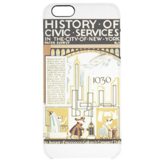 History of Civic Services New York WPA Poster Clear iPhone 6 Plus Case