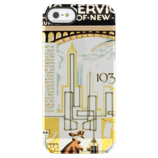 History of Civic Services New York WPA Poster Clear iPhone SE/5/5s Case