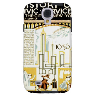 History of Civic Services New York WPA Poster Galaxy S4 Case