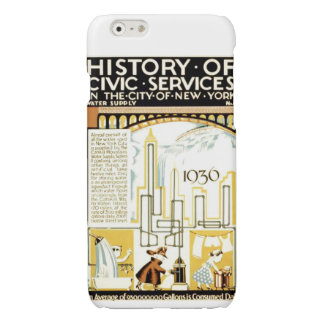 History of Civic Services New York WPA Poster Glossy iPhone 6 Case