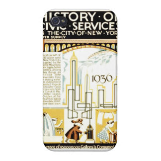 History of Civic Services New York WPA Poster iPhone 4/4S Cover