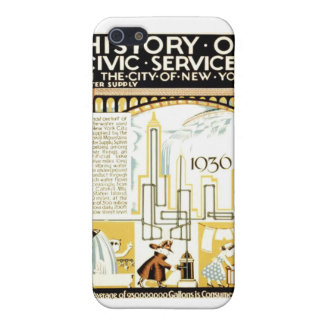 History of Civic Services New York WPA Poster iPhone SE/5/5s Case