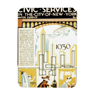History of Civic Services New York WPA Poster Magnet