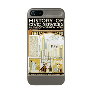 History of Civic Services New York WPA Poster Metallic iPhone SE/5/5s Case