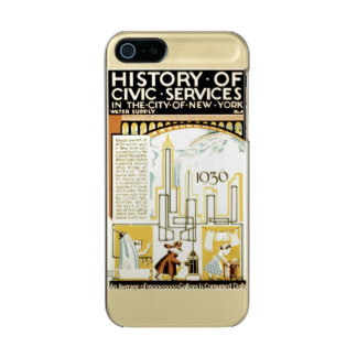 History of Civic Services New York WPA Poster Metallic Phone Case For iPhone SE/5/5s
